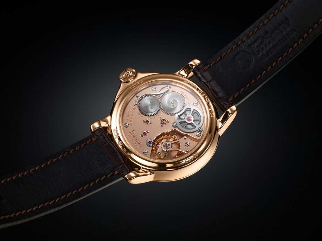 The movement for the Tutima Patria Power Reserve was made entirely in-house in Glashutte.