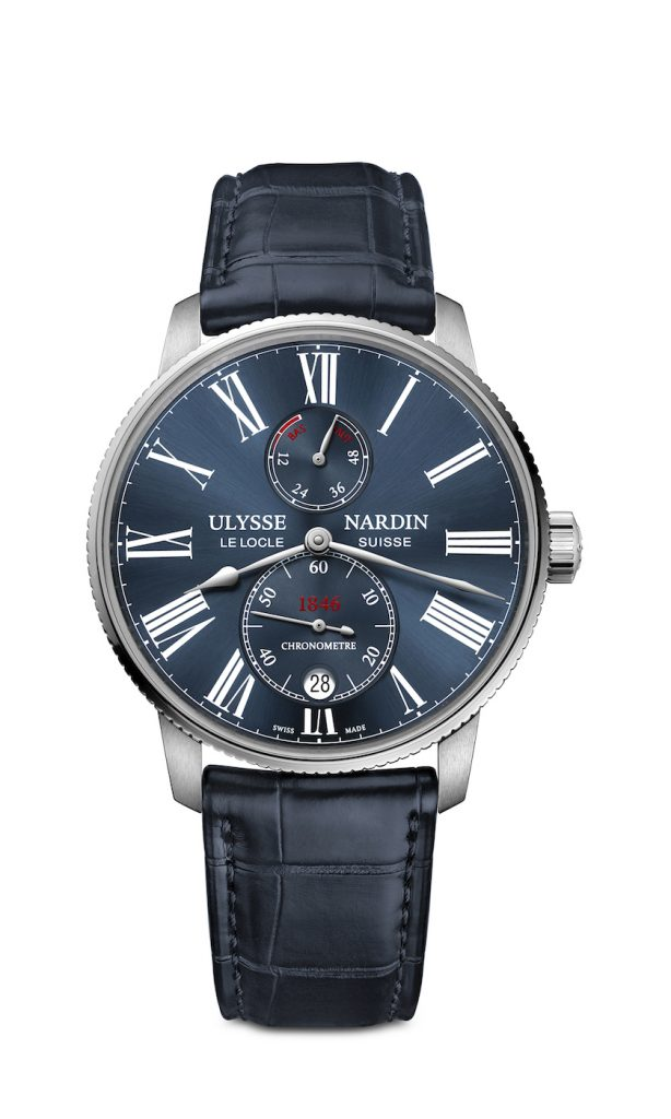 The 42mm Ulysse Nardin Marine Torpilleur watch is a COSC-certified chronometer and represents a new opening price for the brand.