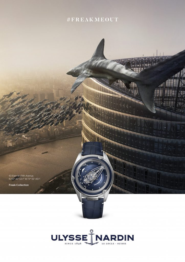 Pudong version of the Ulysse Nardin #Freakmeout campaign.
