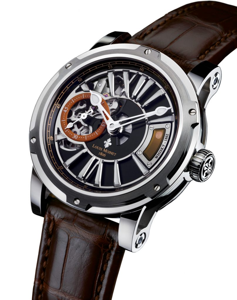 Just 50 pieces of The Whiskey Watch by Louis Moinet and Wealth Solutions will be made: 40 in steel; 10 in rose gold.