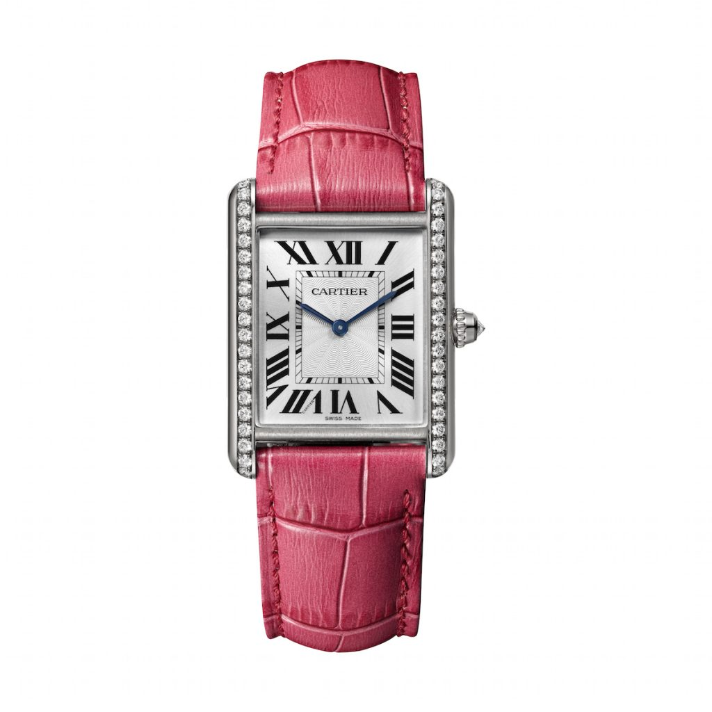 Cartier Tank Louis Cartier, small model, rhodium- finish white gold set with brilliant-cut diamonds. Mechanical movement with manual winding - 8971 MC.