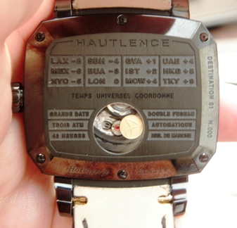 caseback of hte Destination