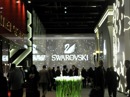 The exhibition spaces at BaselWorld are huge, multi-floor booths.
