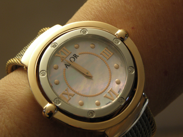 This 1979 watch from ALOR Swiss Watches features a dual detached bezel.
