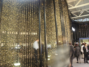 The new Citizen pavillion was truly intriguing -- thin wires with thousands of brass baseplates attached for a walk through an enchanted forest.