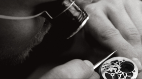 The hand workmanship on the movement parts inside an Audemars Piguet movement is a time-consuming job.