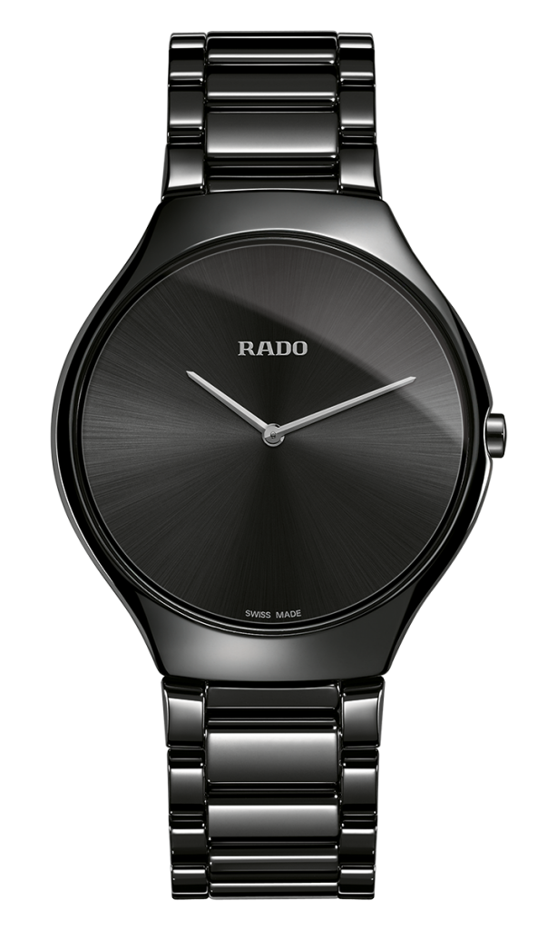 Rado was one of the first brands to work with high-tech ceramic for its watches, such as this recently released Rado True Thinline watch.