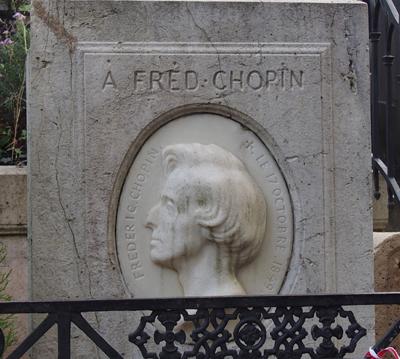 Composer and Pianist Chopin is buried in Pere LaChaise (though his heart is entombed in Poland).