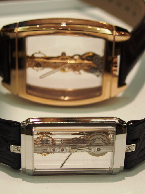 Several Corum Golden Bridge Models.