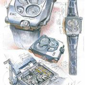 Sketches of the Urwerk EMC