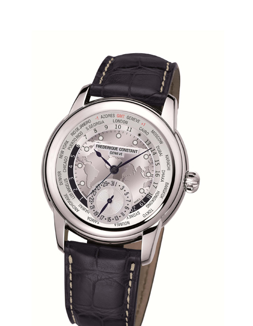 Watch Stops Frederique Constant World Timer In Nyc