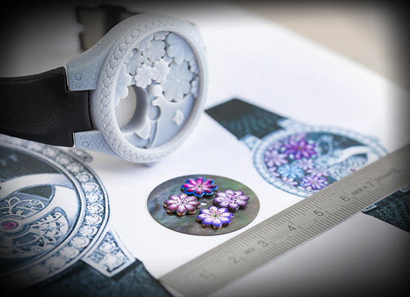 Working on the Floral Tourbillon at Graff Diamonds.