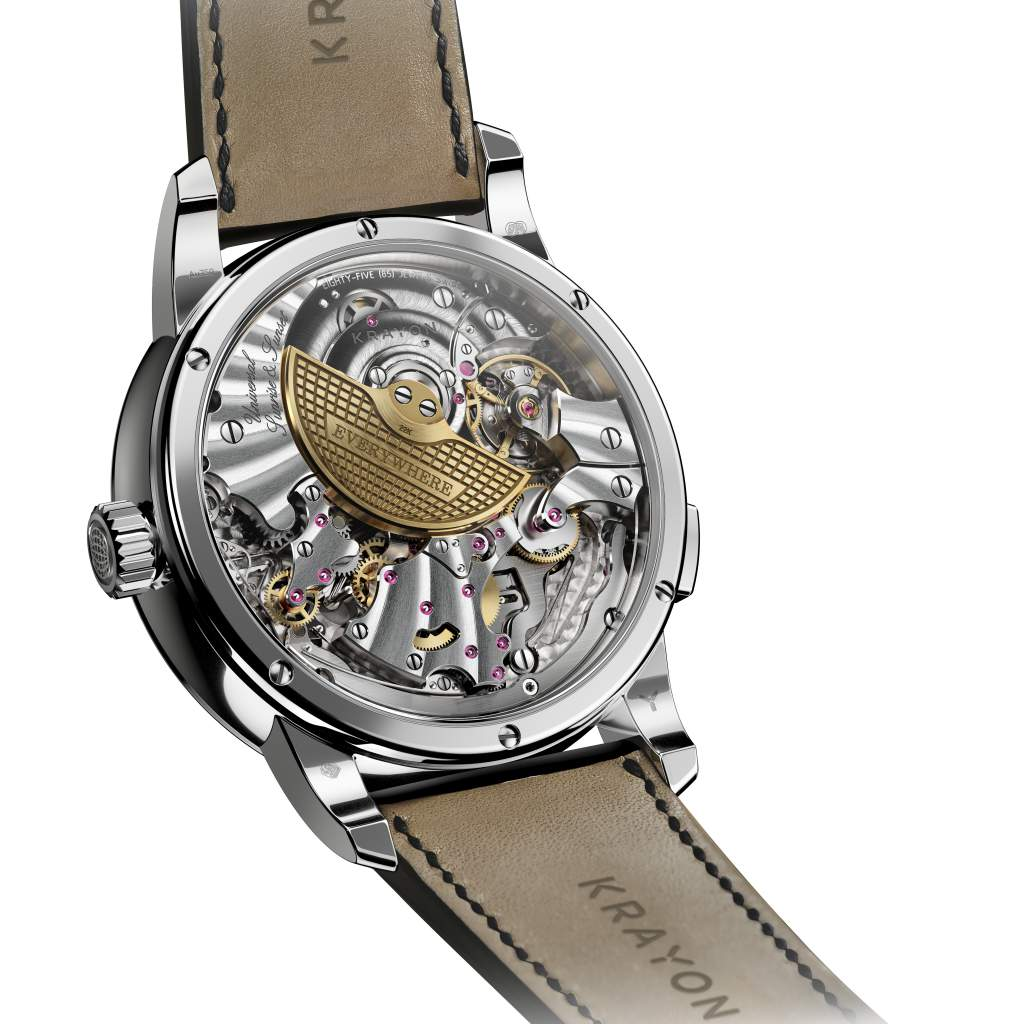 The back of the Krayon Everywhere watch, one of the Top 6 Calendar Watches of 2017 and a GPHG Calendar choice.
