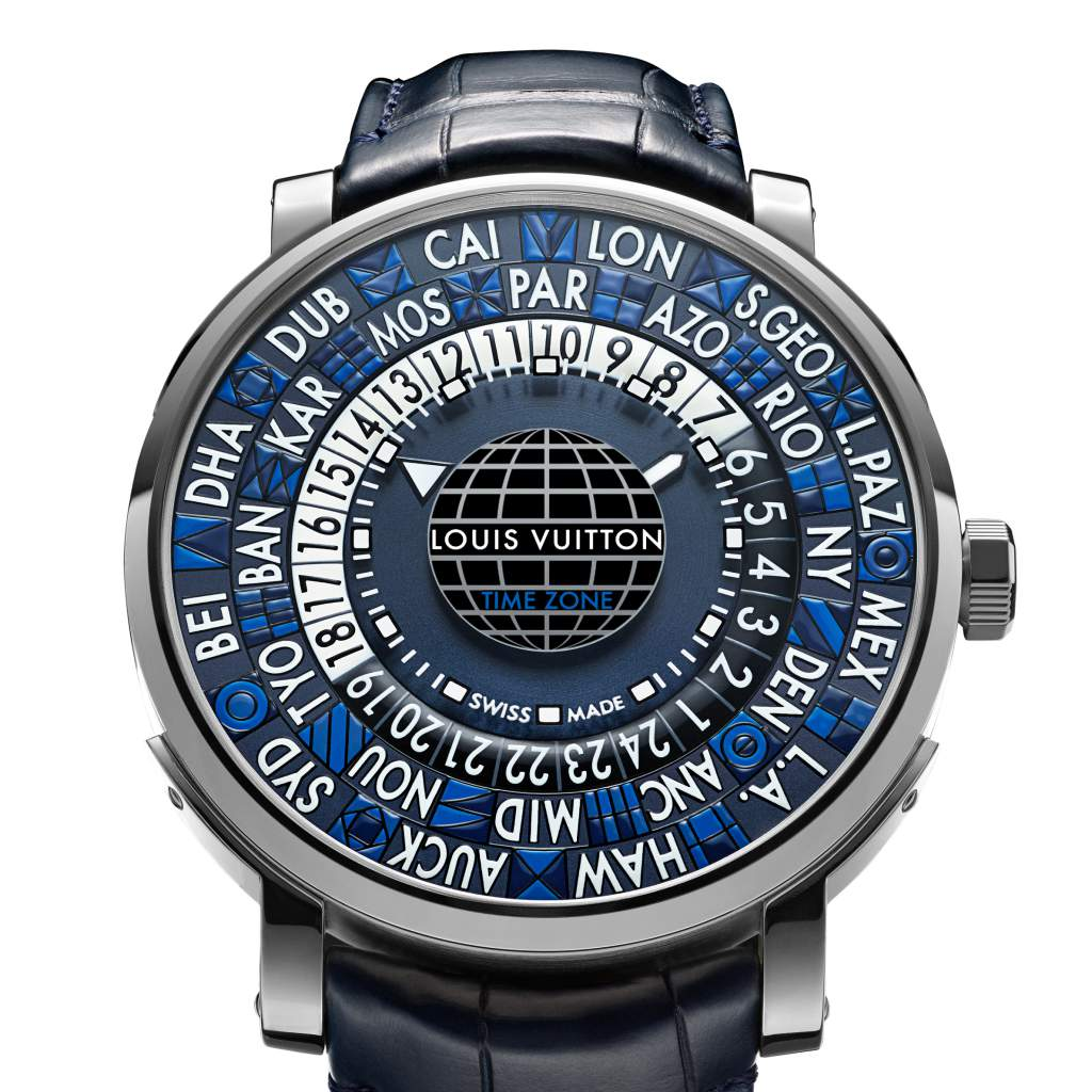 Louis Vuitton's Escale Time Zone Blue watch is a final contender for the Travel Time category at GPHG 2017.
