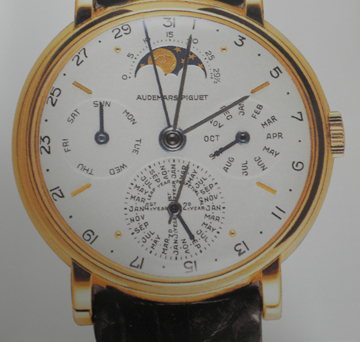 An early Audemars Piguet calendar wrist watch. 