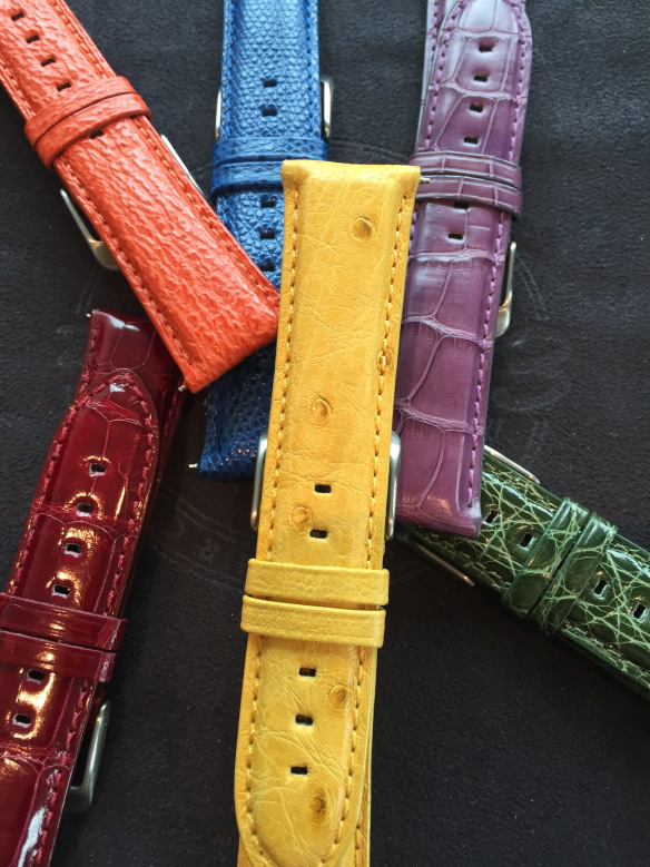 Top watch brands are already offering a painter's palette of yellows, blues and other colors for straps.