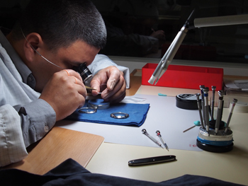 When a watch comes in, it is taken apart and carefully inspected in the new service center.