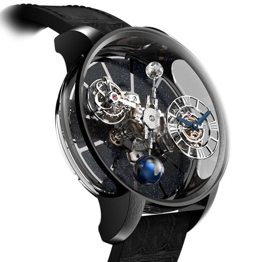 Jacob & Co. Astronomia is crafted in black DLC