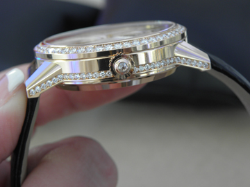 side detailing of the Rendez-Vous Tourbillon