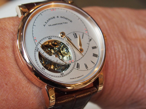 A. Lange & Sohne Tourbillon with retracting dial