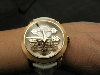 Girard-Perregaux 1966 Tourbillon with Three Gold Bridges for women