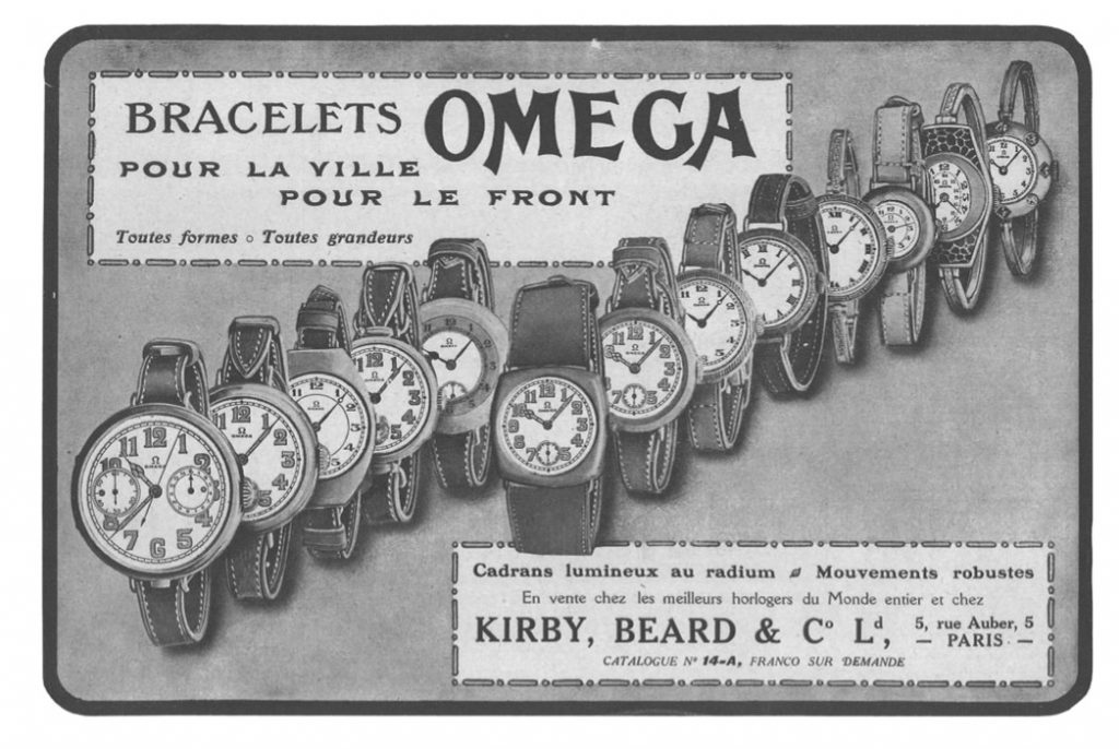 Omega supplied the British Ministry of Defense with watches throughout World War 1 and II.