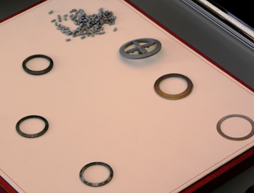 Example of the steps involved in making the ceramic bezel for ETNZ