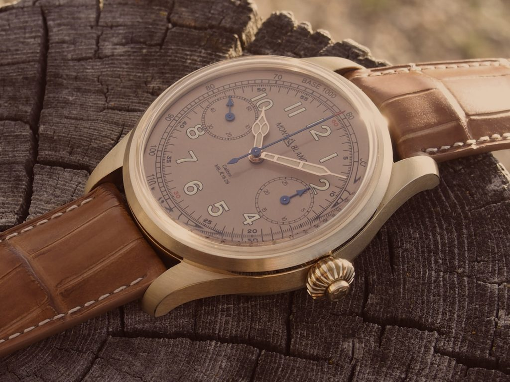 The new Montblanc 1858 Chronograph Tachymeter Limited Edition 100 timepiece is inspired by the vintage chronographs of 1930.