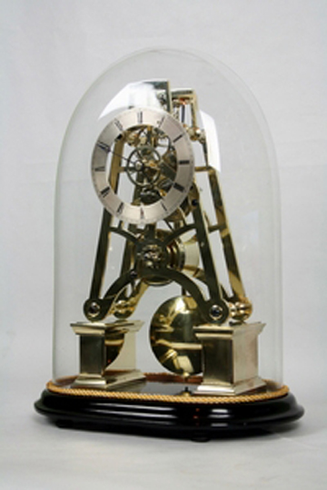 British skeleton clock, chain driven fusee – England, 1830-1845