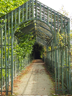 Marie Antoinette not only had a private theater built at Petit Trianon, but also had a covered walkway from the chateau to the theater built for herself so her hair wouldn't get wind blown.