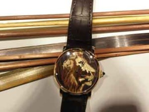 Cartier's amazing new wood marquetry watch.
