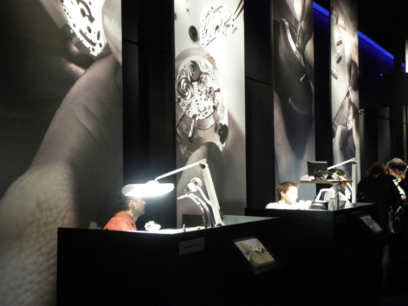 The Montblanc exhibit at last year's SIHH.