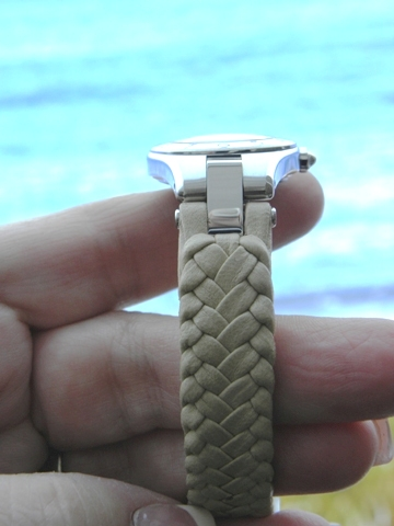 One of the three new Linea watch straps created by Chriqui