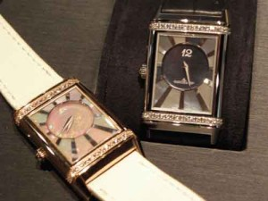 Jaeger-LeCoultre's newest Reverso pieces with mother-of-pearl dials.