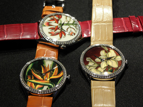 Metiers d' Arts floral watches by Vacheron Constantin.
