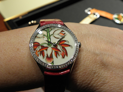 Enamel and guilloche work come together in this Vacheron Constantin Metiers d'Arts piece.
