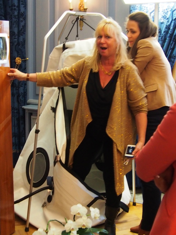 Experiencing the Breva Hyperbaric Chamber to see a watch gauge work - even though claustrophobic! (Priceless)