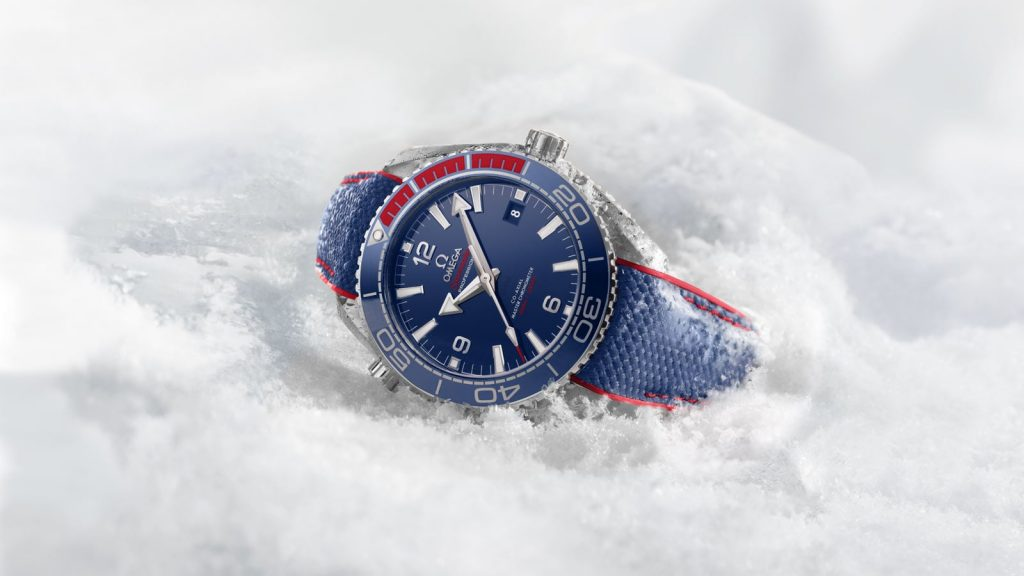 The Omega Seamaster Planet Ocean 600M Pyeongchang 2018 Watch retails for $6,950.