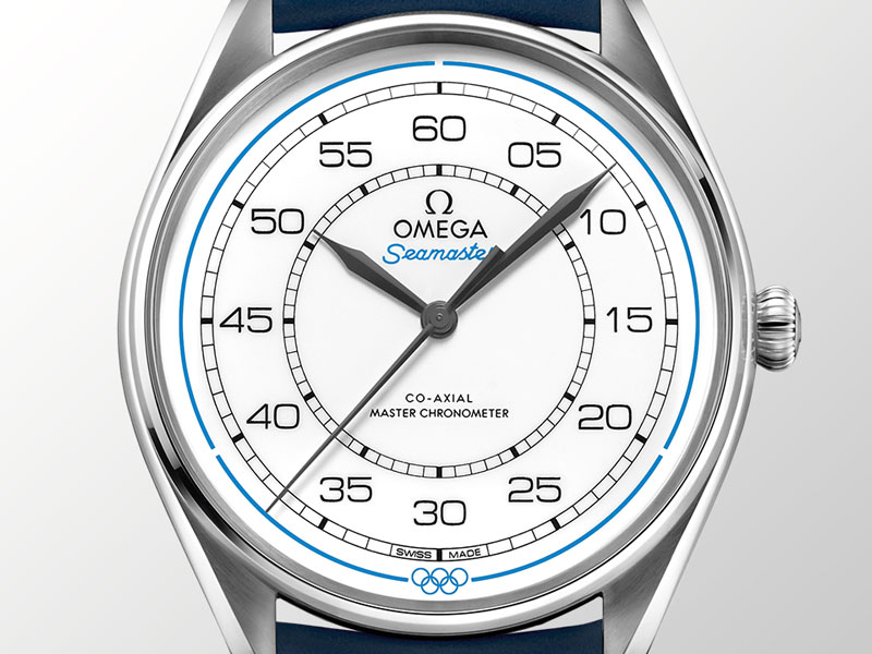 Each watch in the Omega Seamaster Olympic Games Limited Edition boxed set of watches features a white dial