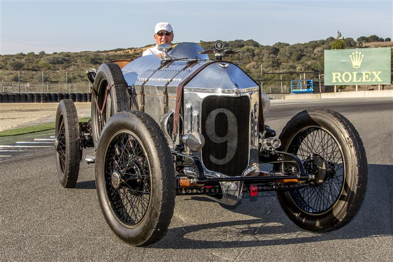 The Spirit award at  the Replica Rolex Monterey Motorsports Reunion went to Dick Deluna and his 1917 Hall-Scott