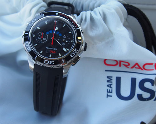 The new Aquaracer 500M Limited Edition regatta countdown watch by TAG Heuer is sturdy yet stealth