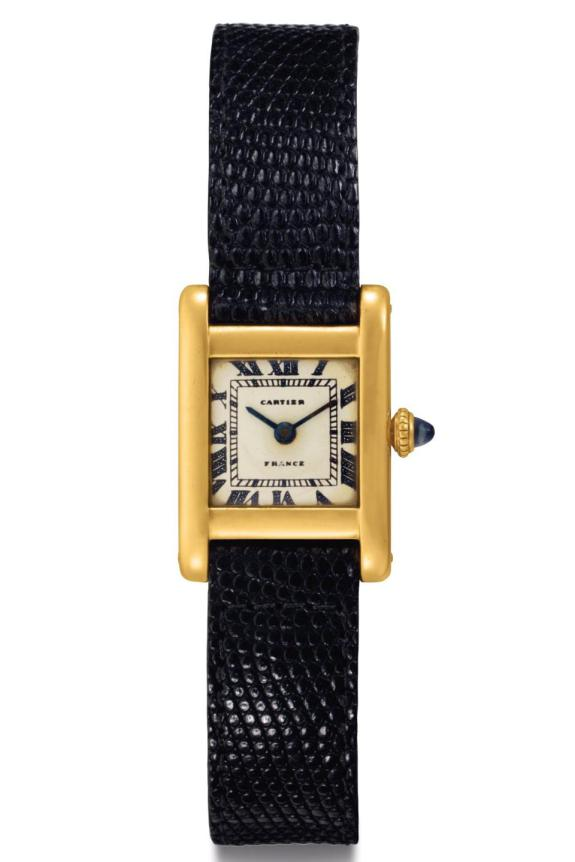 Jacqueline Kennedy Onassis Cartier Tank Watch Sets World Record, Sells For $379,500 At Christie's Auction