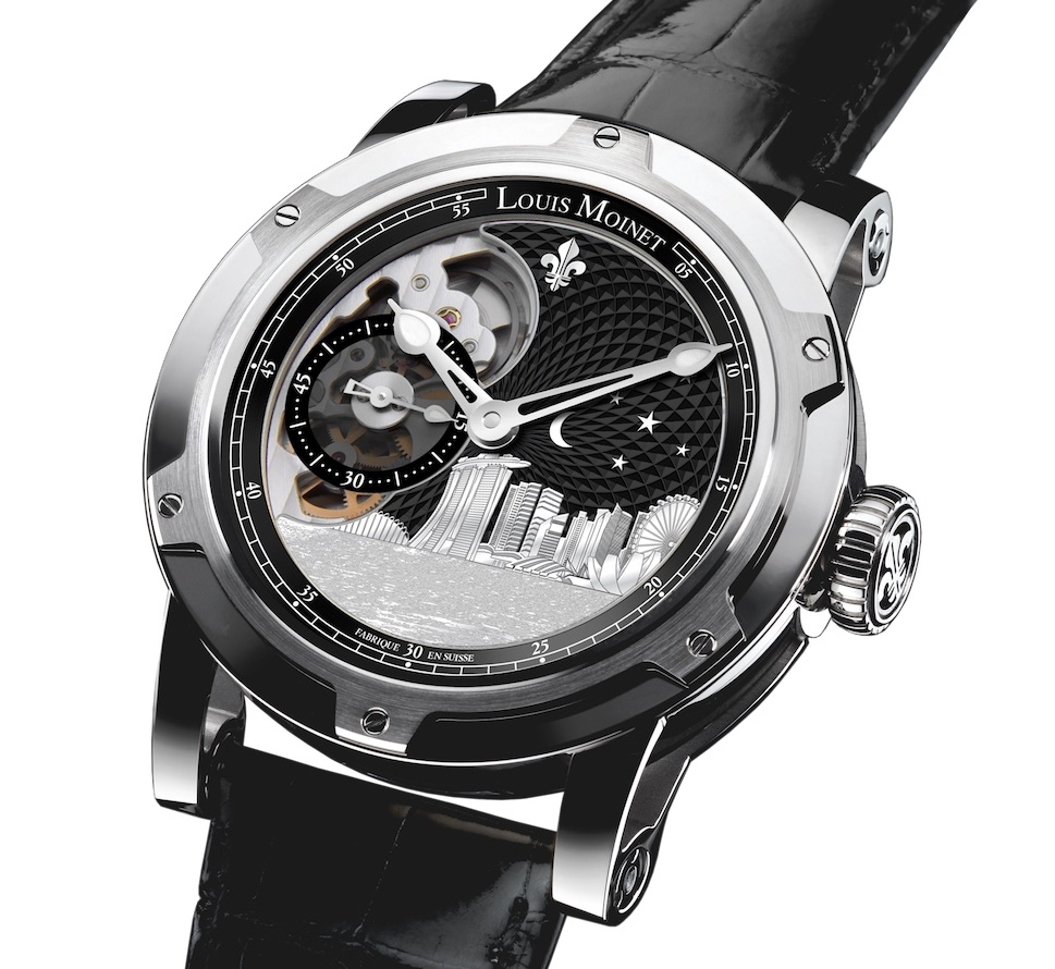 There are 65 pieces of the stainless steel Louis Moinet Singapore Edition watch being made.