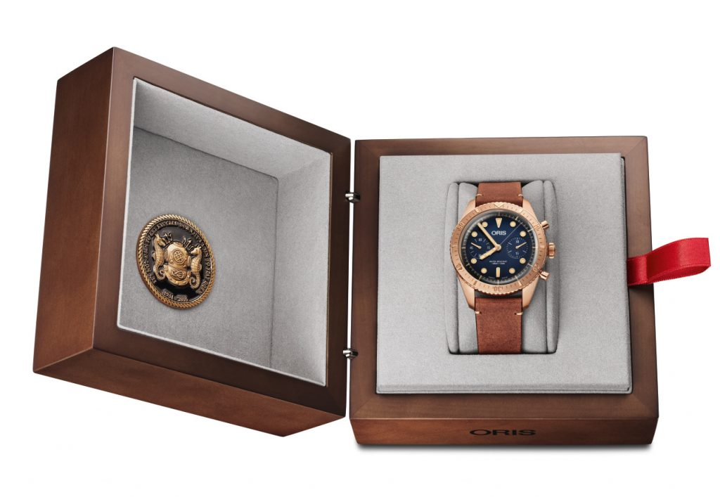 Oris Carl Brashear Chronograph Limited Edition in presentation box