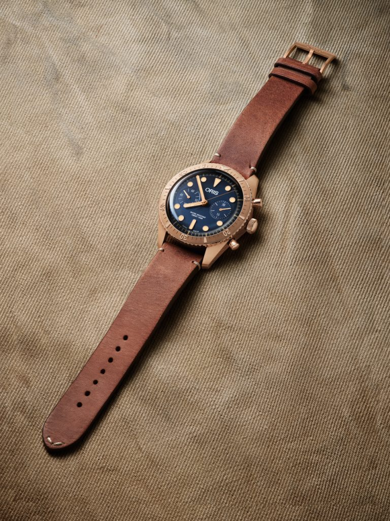 Oris Carl Brashear Chronograph Limited Edition, powered by the mechanical Caliber 771