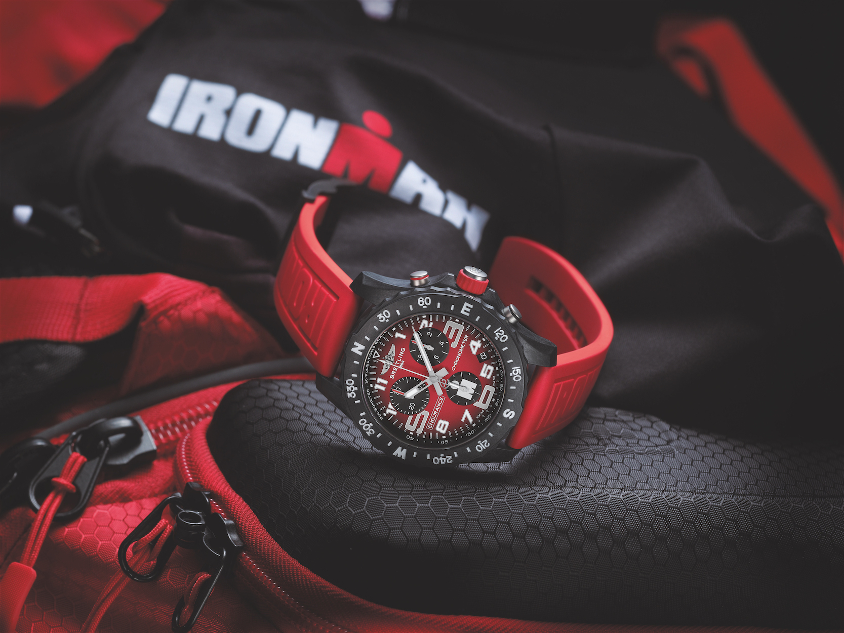 Breitling Endurance Pro IRONMAN watch honors the new partnership with Breitling as the Official Luxury Watch of Ironman events.