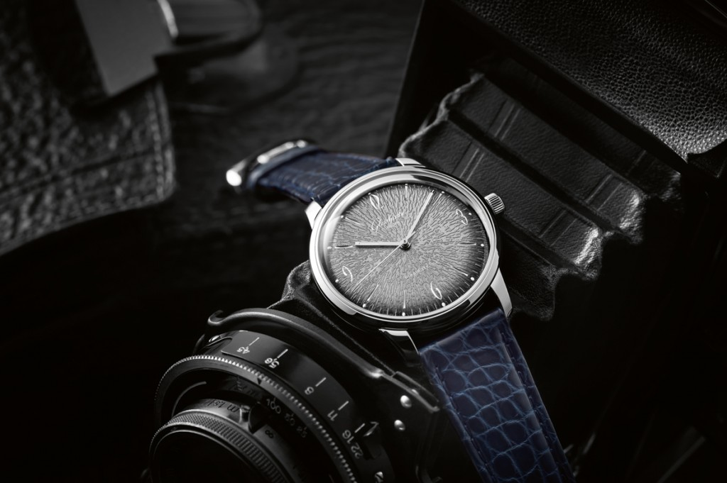 Certain models of the Glashutte Original Sixties Iconic line have stamped dials made with 40-year-old machines