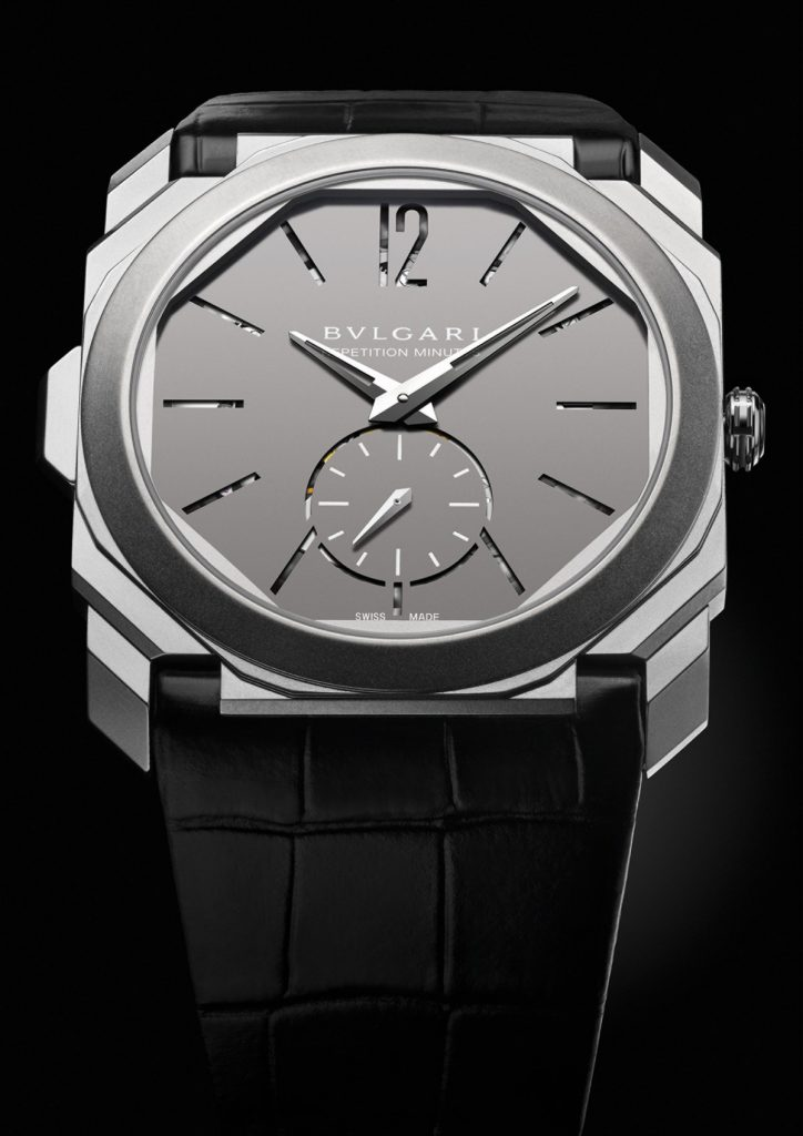 Bulgari Octo Finissimo Minute Repeater set the record as the thinnest hand-wound watch on the market.
