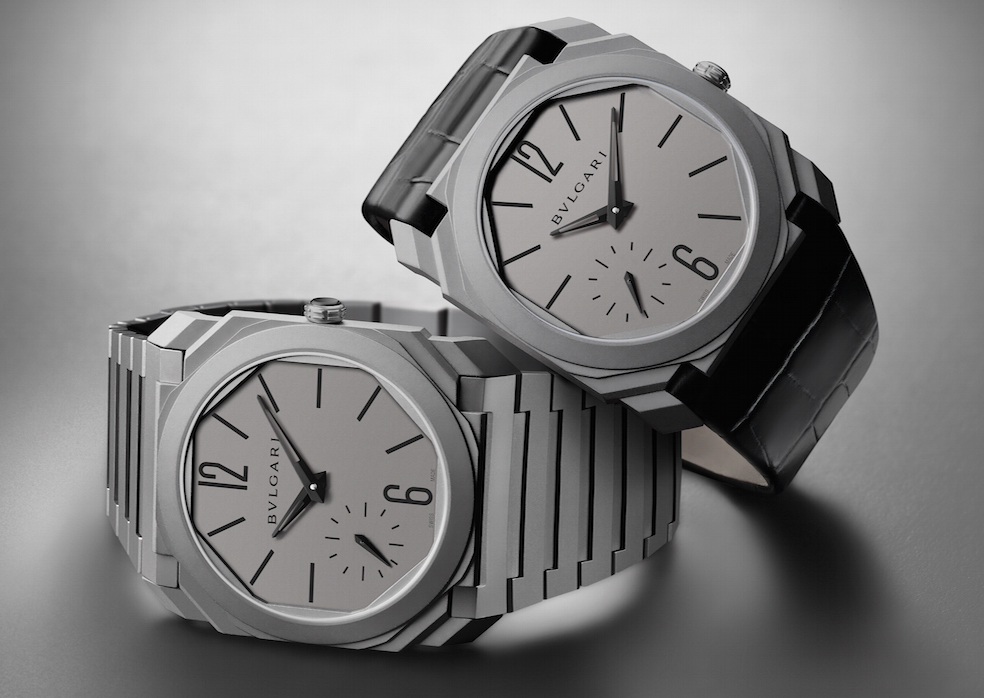 Bulgari Octo Automatic watch sets the world record for the thinnest automatic watch on the market.