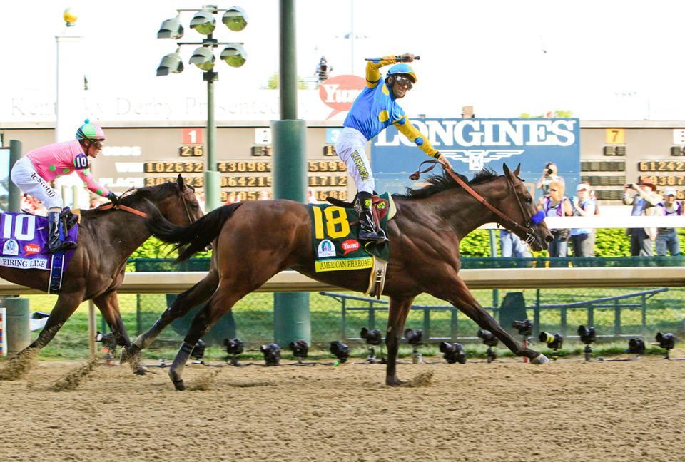 Espinosa and American Pharaoh win the Kentucky Derby. Photo courtesy of Longines